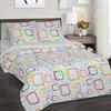 Поплин для постельного белья 115 гр 220 см Лабиринт компаньон (светлые квадраты)