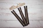 Молния джинсовая антик (коричневый) 18 см
