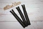 Молния джинсовая антик (черный) 18 см