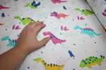 Бязь плательная 2036/1 Динозавры на белом фоне 150 см