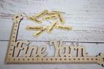 Бирочки кожаные  Hand Made золото
