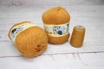 Пряжа Пух норки цвет 041 (горчица) Китай