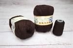 Пряжа Пух норки цвет 031 (коричневый) Китай