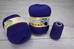 Пряжа Пух норки цвет 009 (чернильный синий) Китай
