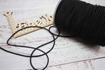 Резинка шляпная (шнур круглый) черный 3 мм