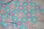 Кулирка Коты квадраты розово-голубые