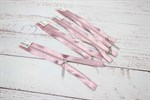 Молния MaxZipper мет. №3 никель атласная тесьма, 18см розовый