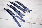 Молния MaxZipper мет. №3 никель атласная тесьма, 18см синий