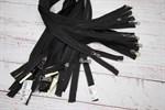 Молния мет. №5 черный никель шлиф.звено, 2 замка 85 см, черный