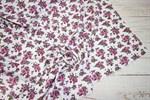 Штапель Мелкие розовые букеты на белом