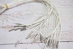 Шнурок кожаный плетеный белый 125 см