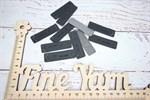 Бирочки кожаные прямоугольные Hand Made черный