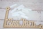Бирочки кожаные прямоугольные Hand Made белый