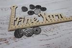 Пуговицы металл TBY.LL 2270 т. никель матовый 25 мм на ножке