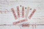 Кожаные бирочки на кнопке Сухая роза